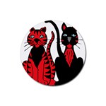 Cool Cats Drink Coaster (Round)