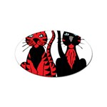 Cool Cats Sticker (Oval)