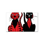 Cool Cats Sticker (Rectangle)