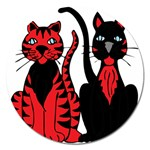 Cool Cats Magnet 5  (Round)