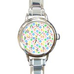 Pastel Bubbles Round Italian Charm Watch