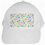 Pastel Bubbles White Baseball Cap
