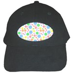 Pastel Bubbles Black Baseball Cap