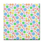 Pastel Bubbles Ceramic Tile