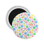 Pastel Bubbles 2.25  Button Magnet