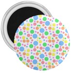 Pastel Bubbles 3  Button Magnet