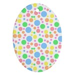 Pastel Bubbles Oval Ornament