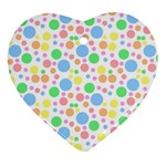 Pastel Bubbles Heart Ornament