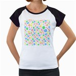 Pastel Bubbles Women s Cap Sleeve T-Shirt (White)