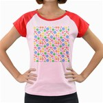 Pastel Bubbles Women s Cap Sleeve T-Shirt (Colored)