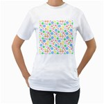 Pastel Bubbles Women s Two-sided T-shirt (White)