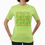 Pastel Bubbles Women s T-shirt (Green)