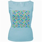Pastel Bubbles Women s Tank Top (Baby Blue)