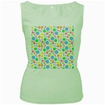 Pastel Bubbles Women s Tank Top (Green)