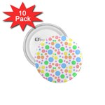 Pastel Bubbles 1.75  Button (10 pack)