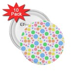 Pastel Bubbles 2.25  Button (10 pack)