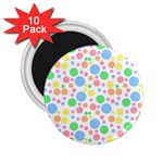 Pastel Bubbles 2.25  Button Magnet (10 pack)
