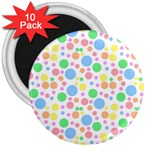 Pastel Bubbles 3  Button Magnet (10 pack)