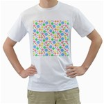 Pastel Bubbles Men s Two-sided T-shirt (White)