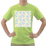 Pastel Bubbles Men s T-shirt (Green)
