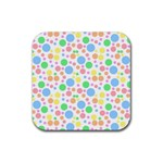 Pastel Bubbles Drink Coasters 4 Pack (Square)