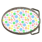 Pastel Bubbles Belt Buckle (Oval)