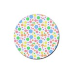 Pastel Bubbles Drink Coaster (Round)