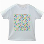 Pastel Bubbles Kids T-shirt (White)