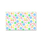 Pastel Bubbles Sticker (Rectangle)