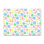 Pastel Bubbles A4 Sticker