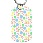 Pastel Bubbles Dog Tag (One Sided)