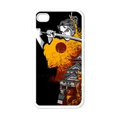 Samurai Rise Apple Iphone 4 Case (white) by Contest1889920