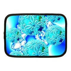 Blue Ice Crystals, Abstract Aqua Azure Cyan Netbook Case (Medium) from Diane Clancy Art Front