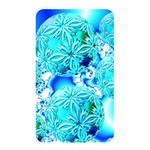 Blue Ice Crystals, Abstract Aqua Azure Cyan Memory Card Reader (Rectangular)