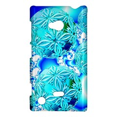 Blue Ice Crystals, Abstract Aqua Azure Cyan Nokia Lumia 720 Hardshell Case from Diane Clancy Art Front