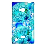 Blue Ice Crystals, Abstract Aqua Azure Cyan Nokia Lumia 720 Hardshell Case