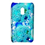 Blue Ice Crystals, Abstract Aqua Azure Cyan Nokia Lumia 620 Hardshell Case