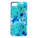 Blue Ice Crystals, Abstract Aqua Azure Cyan Apple iPhone 5S Hardshell Case