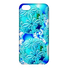Blue Ice Crystals, Abstract Aqua Azure Cyan Apple iPhone 5C Hardshell Case from Diane Clancy Art Front