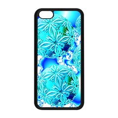 Blue Ice Crystals, Abstract Aqua Azure Cyan Apple iPhone 5C Seamless Case (Black) from Diane Clancy Art Front