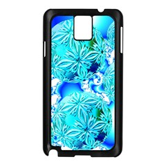 Blue Ice Crystals, Abstract Aqua Azure Cyan Samsung Galaxy Note 3 N9005 Case (Black) from Diane Clancy Art Front