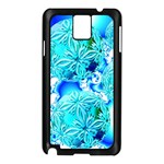Blue Ice Crystals, Abstract Aqua Azure Cyan Samsung Galaxy Note 3 N9005 Case (Black)