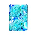 Blue Ice Crystals, Abstract Aqua Azure Cyan Apple iPad Mini 2 Hardshell Case