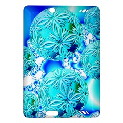 Blue Ice Crystals, Abstract Aqua Azure Cyan Kindle Fire HD 7  (2nd Gen) Hardshell Case from Diane Clancy Art Front
