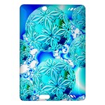 Blue Ice Crystals, Abstract Aqua Azure Cyan Kindle Fire HD 7  (2nd Gen) Hardshell Case