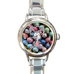 Easter Egg Bunny Treasure Round Italian Charm Watch