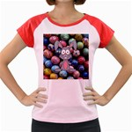 Easter Egg Bunny Treasure Women s Cap Sleeve T-Shirt (Colored)