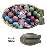 Easter Egg Bunny Treasure Money Clip (Oval)