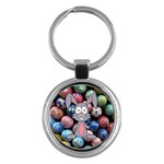 Easter Egg Bunny Treasure Key Chain (Round)