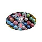 Easter Egg Bunny Treasure Sticker (Oval)